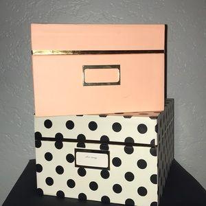KATE SPADE NESTING STORAGE BOXES